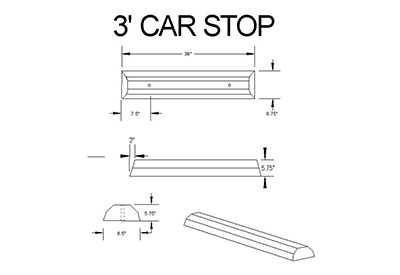 3-foot-carstop